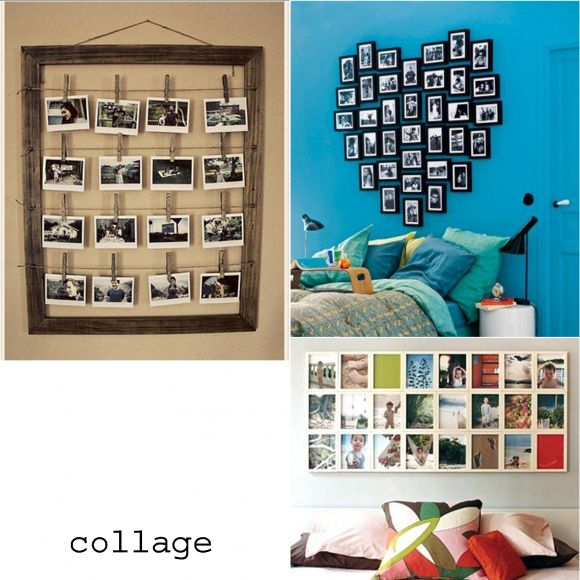 I love this idea, and have got a huge pile of black photo frames in different sizes, but dont know if I could fit it on my bedroom wall. (the heart display) Am thinking I might put it on the lounge wall instead.  I might do the other one for the bedroom, with the pegs.