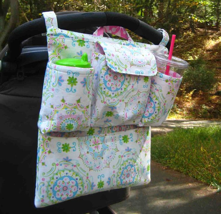 Ultimate Stroller Organizer - Available in Many Fabrics. $52.00, via Etsy.