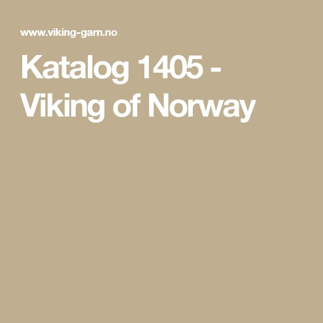Katalog 1405 - Viking of Norway