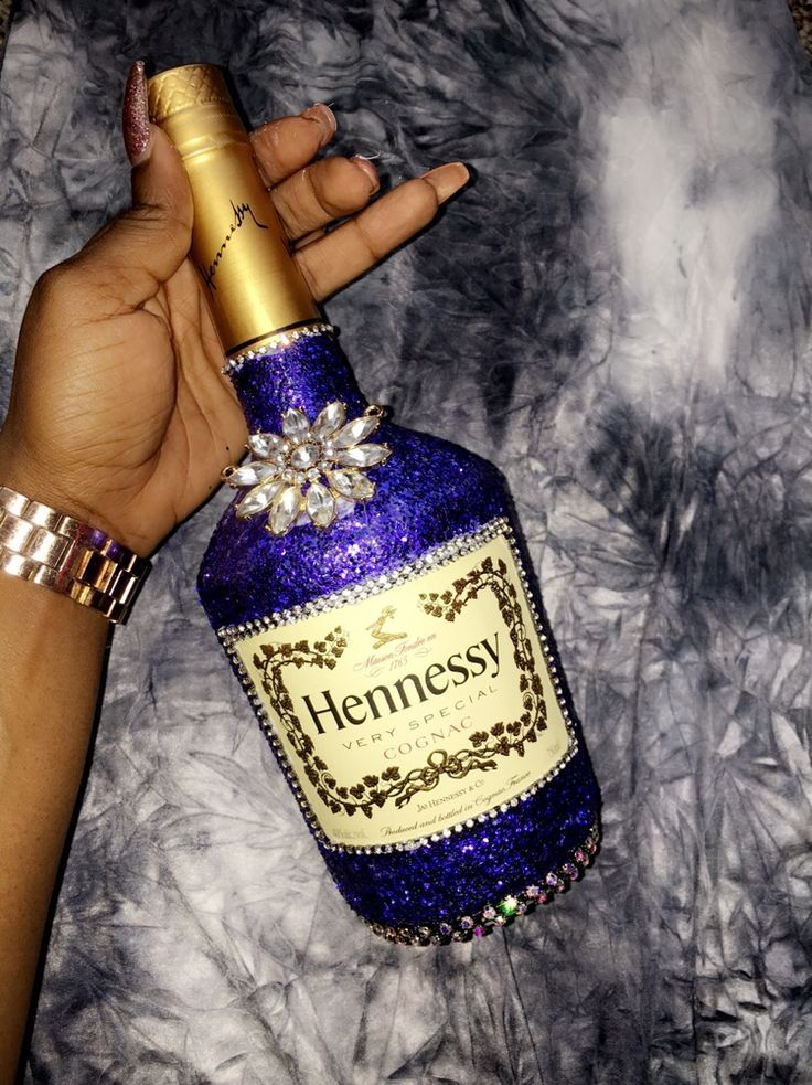 Bling Hennessy bottle