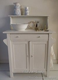Oude Wastafel Commode - SOLD