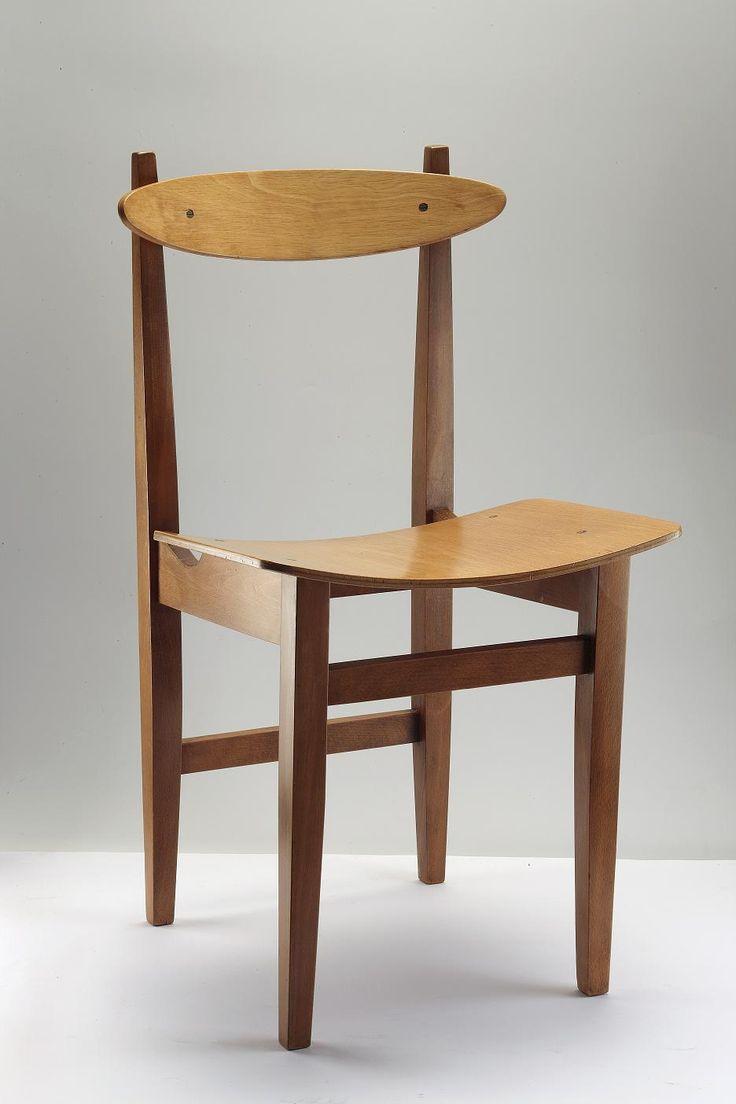 Maria Chomentowska, Instytut Wzornictwa Przemysłowego, krzesło ze sklejki, 1956-60, Wzr.d.1216/2 MNW