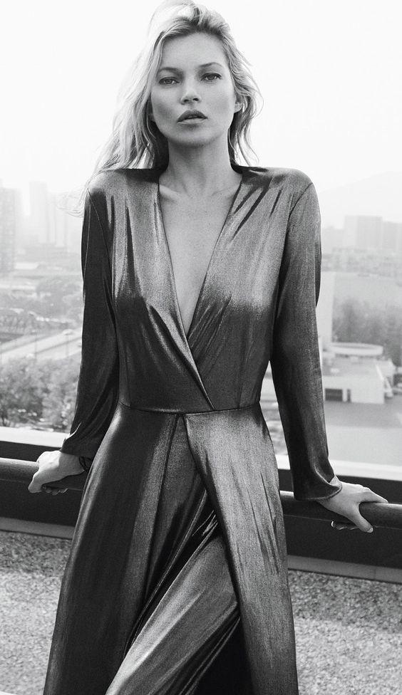 Kate Moss x Mango - Metallic maxi dress