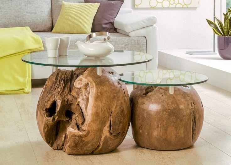Zweitsatztisch aus Teak Massivholz mit Glasplatten Unikat 21210. Buy now at https://www.moebel-wohnbar.de/zweitsatztisch-aus-teak-massivholz-mit-glasplatten-unikat-21210.html