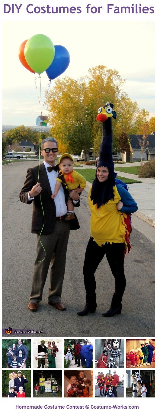 Homemade Costumes for Families - Halloween costume contest I love this costume!! I want to do it with our little family someday :-D