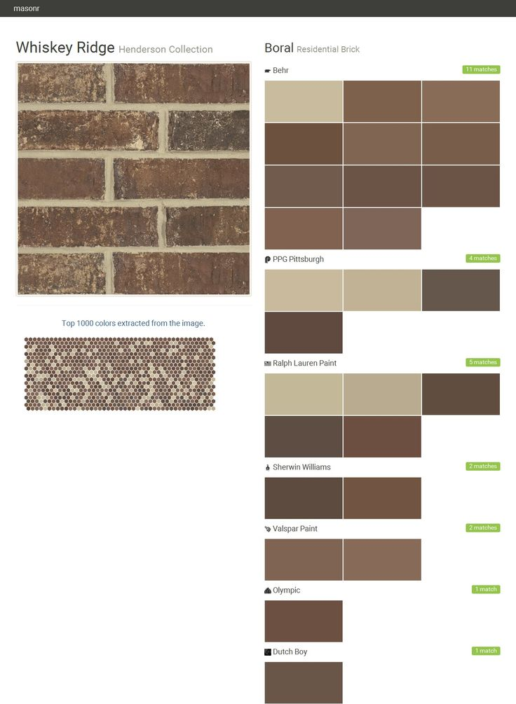 Whiskey Ridge Henderson Collection Residential Brick Boral Behr PPG Pain
