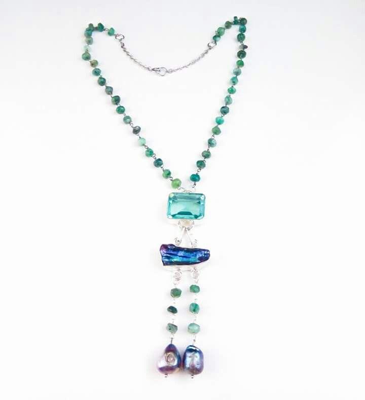smarald.mother of pearl.hydro quartz