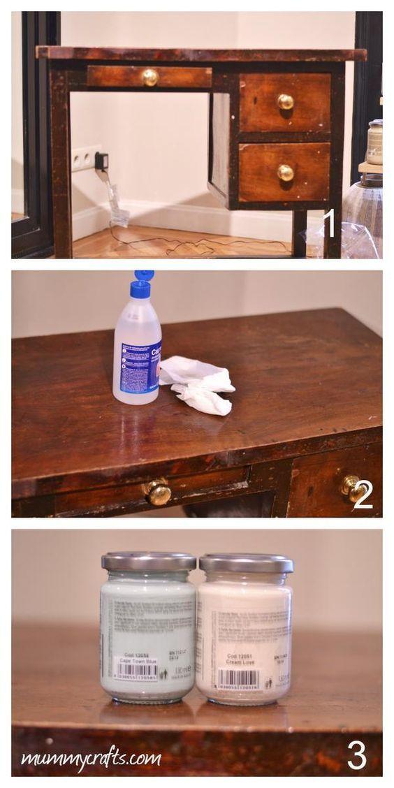 Preparamos el mueble para pintarlo