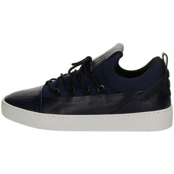 Alexander Smith Neoprene and Leather Slip-on Sneakers ($285) ❤ liked on Polyvore featuring men's fashion, men's shoes, men's sneakers, mens leather shoes, mens slipon shoes, mens slip on sneakers, mens slip on shoes and mens woven leather slip-on shoes