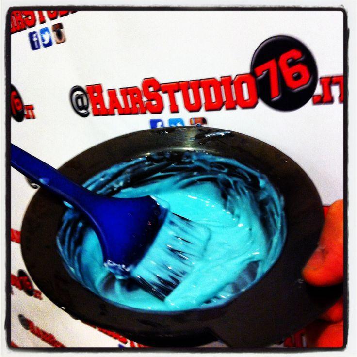 Colore azzurro Framesi Italia hairstudio76 napoli