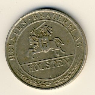 German Holsten Brauerei token - 5 mark?