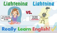 Lightening vs. Lightning, What Is the Difference? Lightening and Lightning are two English words which can be easily confused, because they are spelled and sound almost exactly the same. Let's examine the meanings of these two sound-alike words (homonyms), because that one little E makes all the difference!