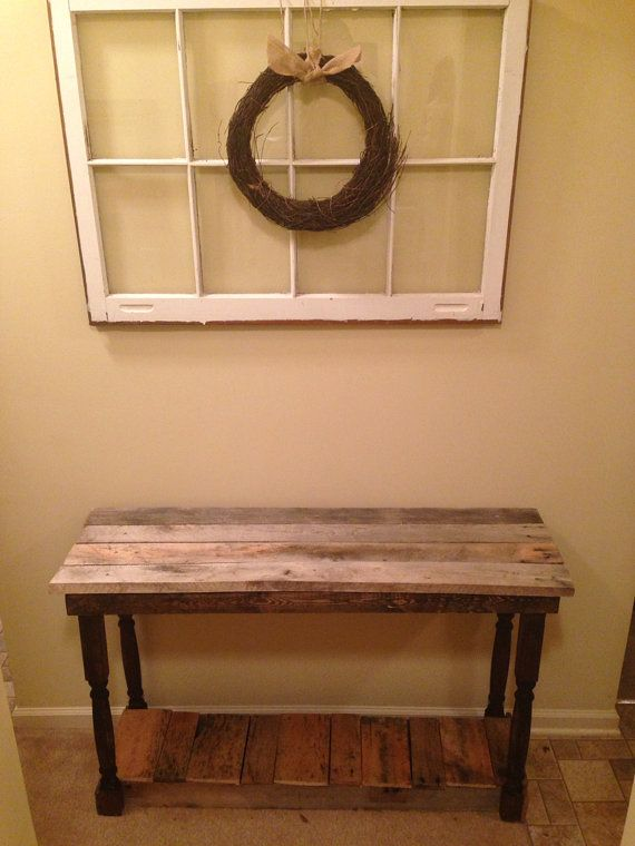 Rustic Foyer/Entry Table Made From Reclaimed Pallet Wood