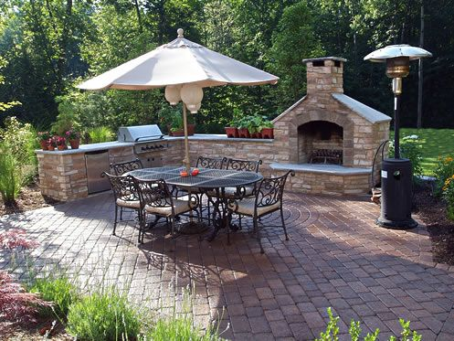 This would make a great boundary for the edge of the patio, the fireplace here would be our pizza oven