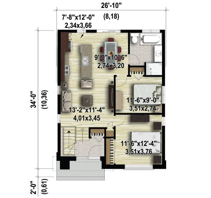 House Design Plan 7x7 5m With 3 Bedrooms Home Design With Plan Duplex House Design Bungalow House Design 2 Storey House Design