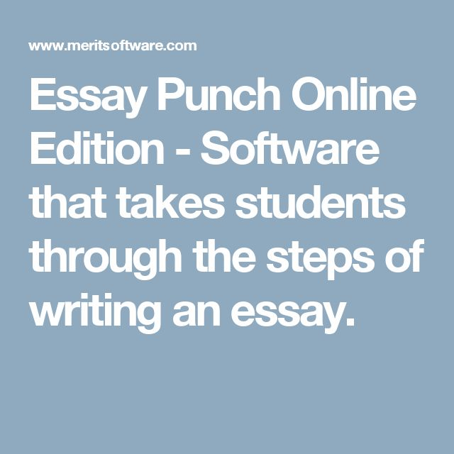 The 25 best punch software ideas on pinterest send text online essay punch online edition software that takes students through the steps of writing an essay fandeluxe Images