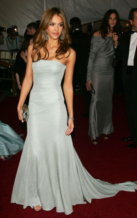 Jessica Alba At the MET Costume Institute Gala: Anglomania, May 1, 2006.
