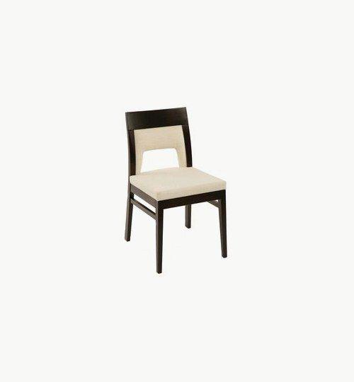 Trästol med stoppad sits och ryggparti, många tyger samt träbets att välja på. Ingår i en serie med en karmstol. Vikt 5,3 kg. Säljs i 2pack (2st). Pris anges (1st). Levereras monterad.  Tyg Lido, 100 % polyester, brandklassad. Tyg Luxury, 100 % polyester, brandklassad. Konstläder Pisa, brandklassad, 88,5% PVC, 11,5% polyester.