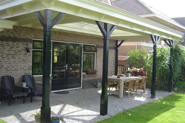Jaren 30 terrasoverkapping in meer klassieke stijl idee n voor het casco pinterest ideas - Veranda modern huis ...