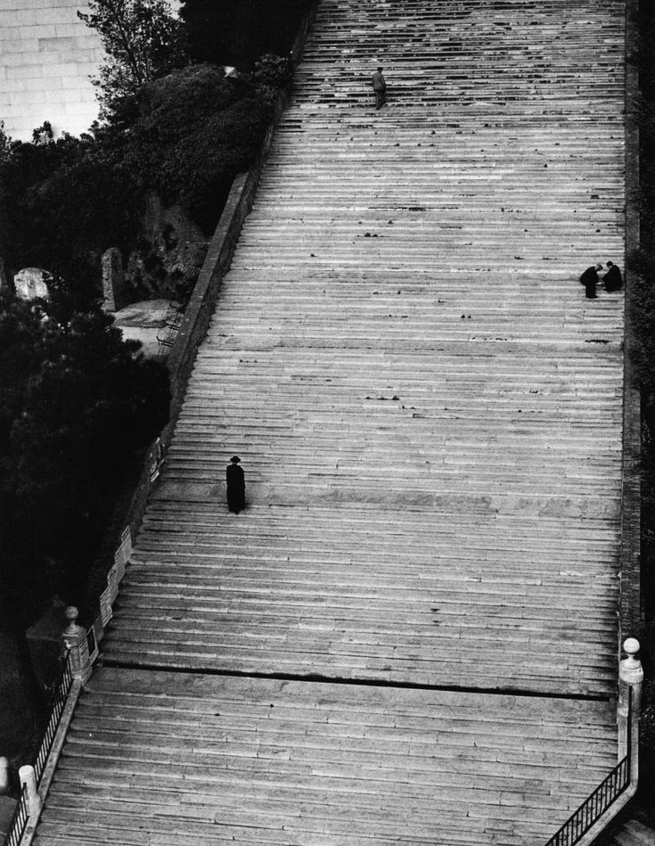 Herbert List Rome. Steps to Santa Maria Aracoeli Church. 1949.