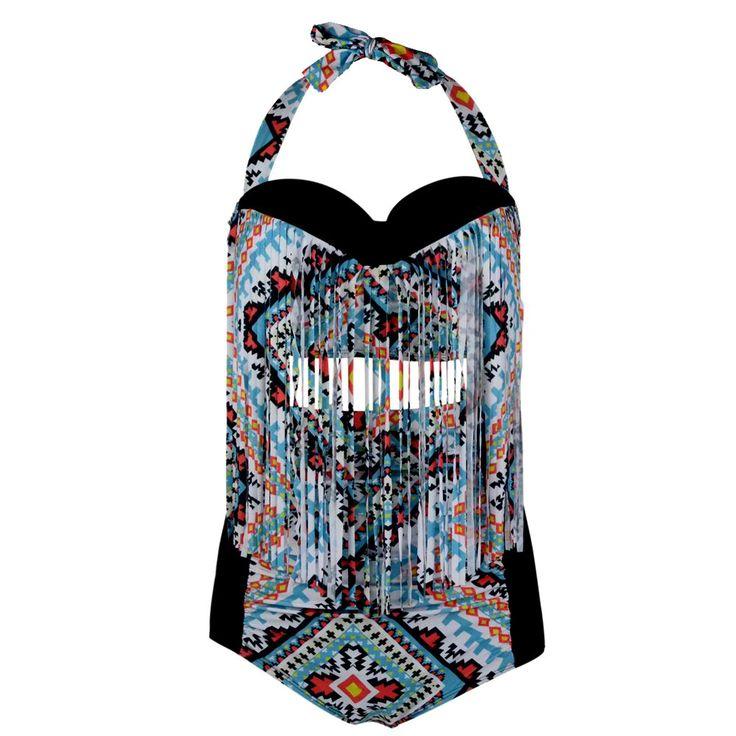 $35.70 (Buy here: https://alitems.com/g/1e8d114494ebda23ff8b16525dc3e8/?i=5&ulp=https%3A%2F%2Fwww.aliexpress.com%2Fitem%2F2016-Women-Plus-Size-Swimwear-Bikinis-Set-Sexy-Tassel-Swimsuit-High-Waist-Geometry-Bikini-Bathing-Suit%2F32703465611.html ) 2016 Women Plus Size Swimwear Bikinis Set Sexy Tassel Swimsuit High Waist Geometry Bikini Bathing Suit Monokini Push Up Biquini for just $35.70