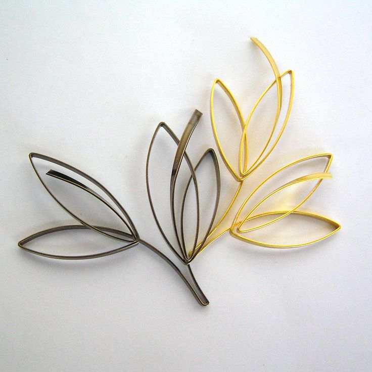 Lilian's leaf design serise, made by flat style wire.