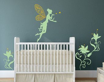 Fairy And Flowers Wall Decal Baby Girl Nursery Removable Wall Decals Kids  Bedroom Stickers Floral Part 82