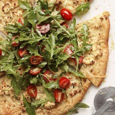Dinner, Pizza and Arugula salad on Pinterest