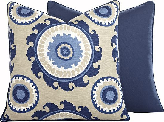 Get the suzani look with this havertys Ponderosa Pillow. Havertys Furniture Pinterest The ...