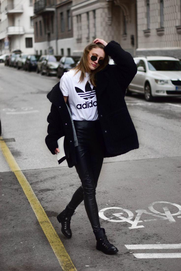 minimal, black teddy coat