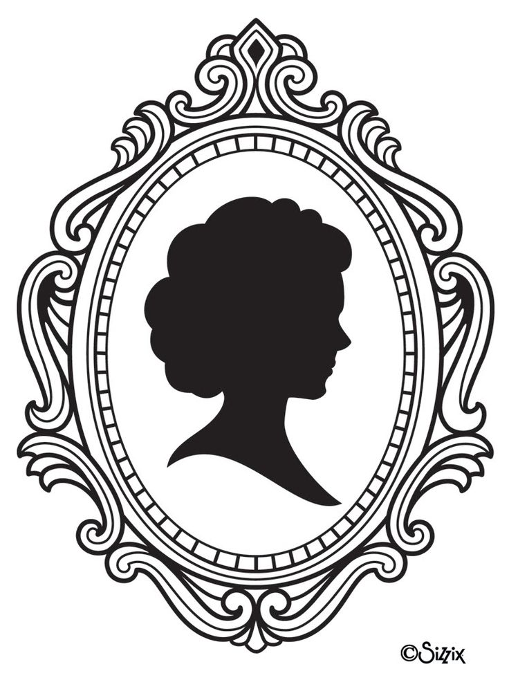 Cameo frames drawing | Cameo image - vector clip art online, royalty free & public domain