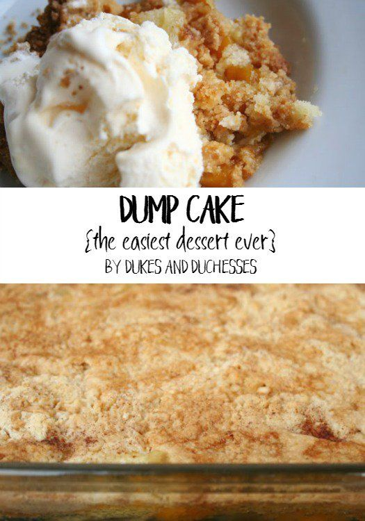 dump cake recipe, the easiest dessert ever
