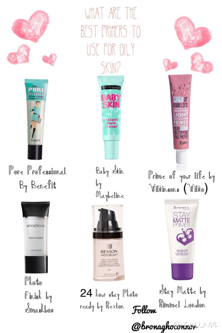 What are the best primers for oily skin? My skin is fairly oily and I always find it so hard to keep my makeup on all day without doing touch ups in between, so I did a bit of reviewing and research and now have managed to come up with 6 primers which in my opinion work best with oily skin. They may all work just as well if you have dry skin or a combination of both but from my personal experience and researching others these are they No.1 primers for oily skin!xo best makeup products ...