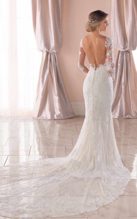 Long-Sleeved Wedding Dress with Open-Back – Stella York Wedding Dresses