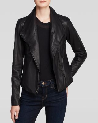 Vince Jacket - Vintage Leather Scuba | Bloomingdale's