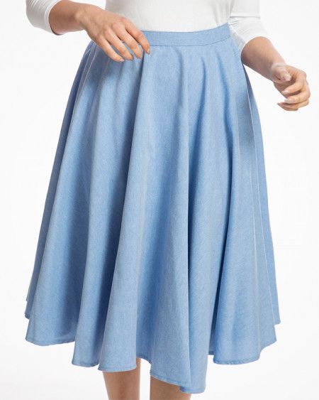 919714929 Peggy Sue' Classic 1950s Full Circle Swing Skirt in Sky Blue ...