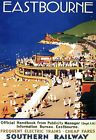 Art Ad Eastbourne Southern Railway Train Rail Travel Poster Print