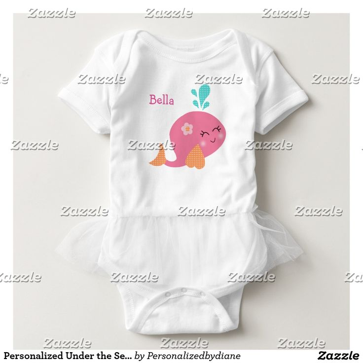 Personalized Under the Sea Pink Whale Baby Shirt
