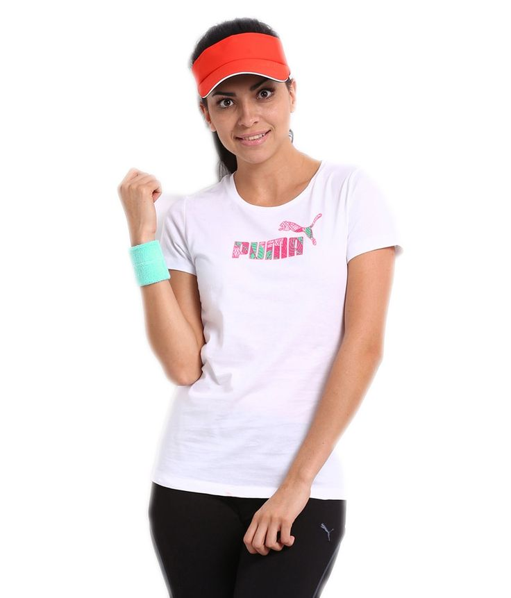 Puma White Cotton Half Sleeves Round Neck Printed Women's Tee, http://www.snapdeal.com/product/puma-white-cotton-half-sleeves/680308731824