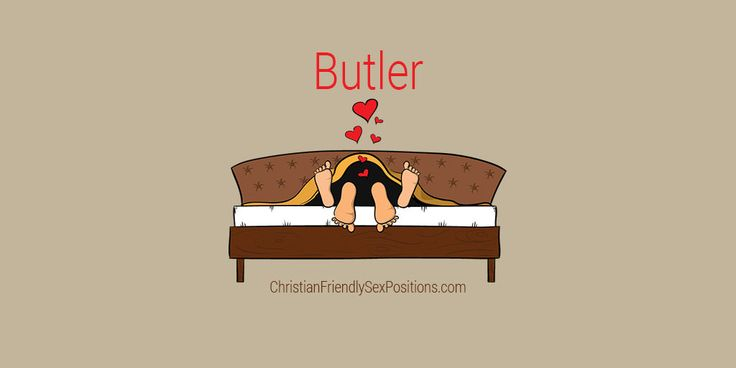 Christian friendly standing rear-entry cunnilingus position: Butler