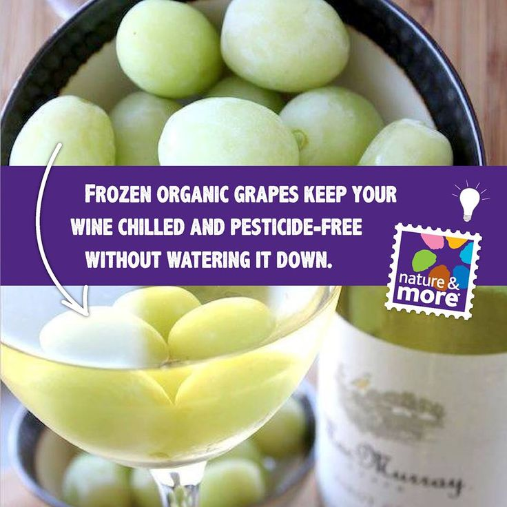 Our tip for long summer evenings: put some frozen organic grapes in your glass of wine to keep your wine chilled. It keeps your drink free from pesticides and it  looks very decorative.  #organic summer #organic #natureandmore