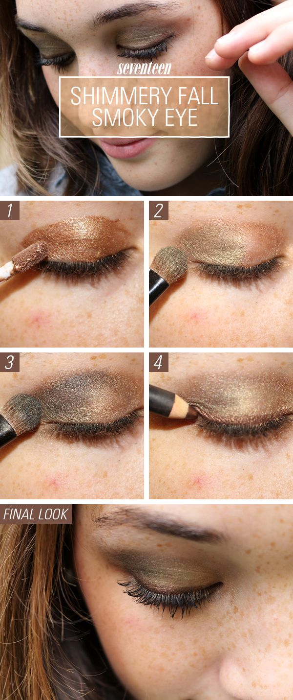 Makeup How-To: Shimmery Fall Smoky Eye Look