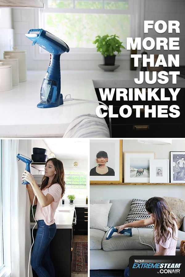 Freshen all around your home with the CONAIR® Turbo ExtremeSteam®. It'll deodorize and sanitize your sofa and curtains  plus it will kill bed bugs and dust mites on your mattress without chemicals or the expense of professional upholstery cleaning. Add one to your tool arsenal today and start experiencing the power of steam.