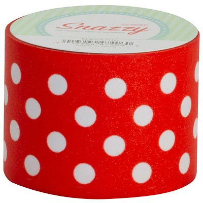Snazzy Tape, Red/White Polka DotsSnazzy Tape, Red/White Polka Dots Use as a border for bulletin boards, posters, science boards, and more. Great for decorating the classroom when used to trim marker boards, door frames, and window frames.