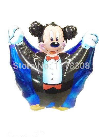 Хэллоуин украшения catoon вампир микки маус фольгированные шары хэллоуин ну вечеринку украшения дети классические игрушки шары поставки