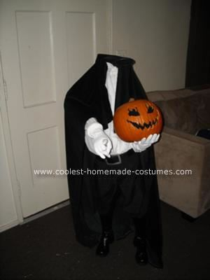 Homemade Headless Horsemen Costume: This homemade headless horseman costume was inspired by the movie Sleepy Hollow.  My son wanted to be something original, but classic at the same time.