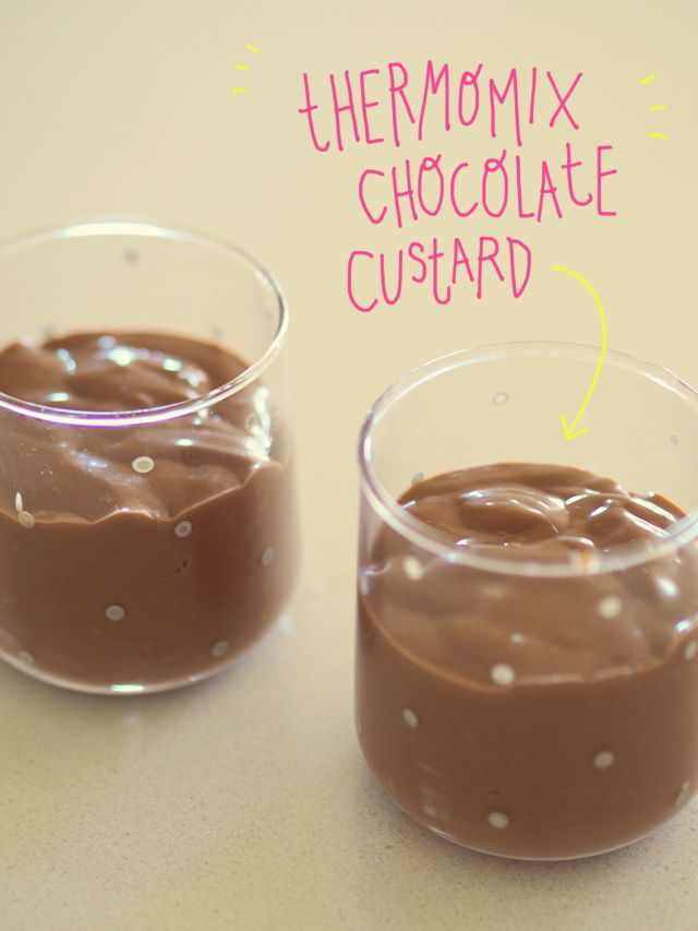 so easy! Thermomix #chocolate custard #recipe by @FatMumSlim