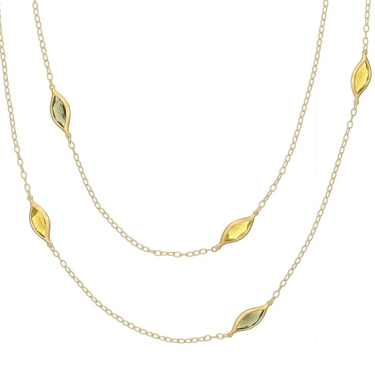 Carelle Jewelry - Long Leaf Green and Lemon Quartz Necklace, $2,250 (http://www.carelle.com/long-leaf-green-and-lemon-quartz-necklace/)