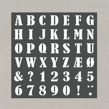 29128 Plast stencil, 30x30cm Alfabet