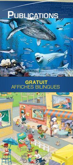 Affiches éducatives bilingues gratuites.  http://rienquedugratuit.ca/activite/affiches-educatives-bilingues/